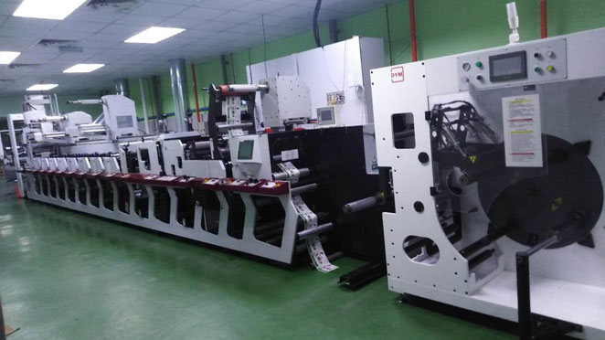 Malaysian well-known printing company MakrAndy press installed the DYM non-stop printing system